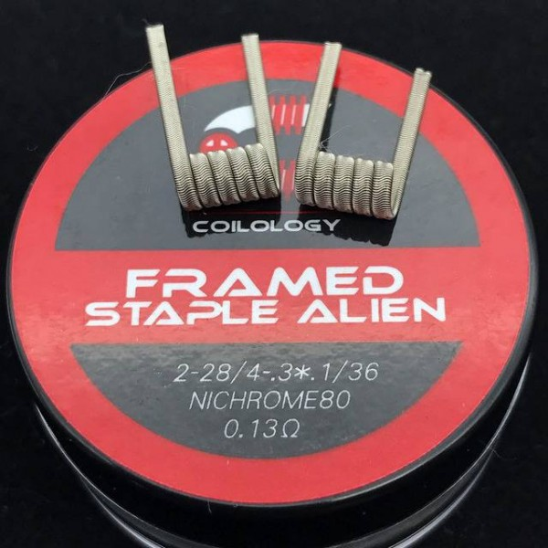 Framed Staple Alien Coil by Coilogy (Ni80 0,13)